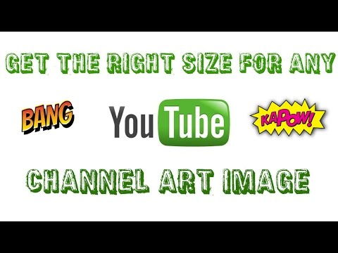 How to resize and make any photo as your youtube channel art!
