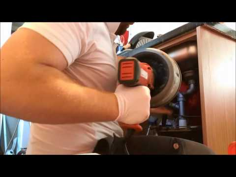 Clearing A Blocked Sink With A Drain Snake - Auger Scottish Borders
