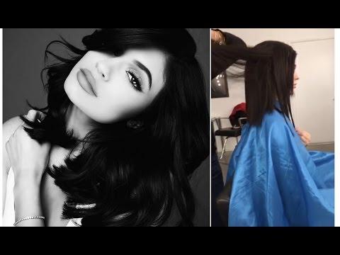 Kylie Jenner Haircut Tutorial  || Snapchat Videos