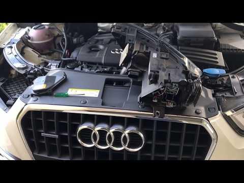 Audi Q3 xenon headlight headlamp bulb replacement
