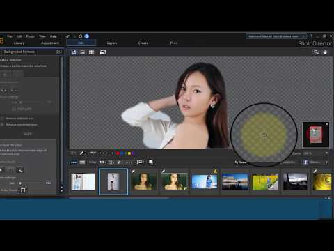How To remove photo Background In CyberLink PhotoDirector 9 || Extract Or Compose || Part 9
