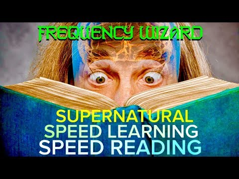 SUPERNATURAL SPEED LEARNING SPEED READING! SUBLIMINAL AFFIRMATIONS FREQUENCY MEDITATION!
