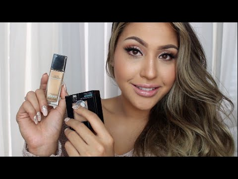 Maybelline Fit Me Matte+Poreless Foundation & Powder : Demo & Review