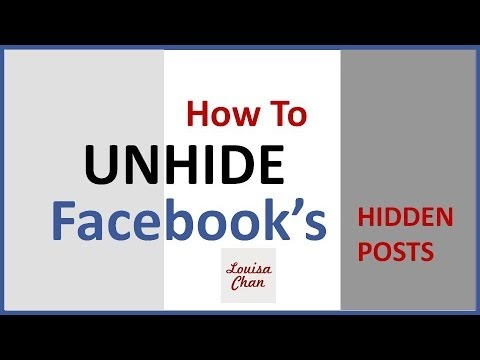 [New] How To Unhide Facebook Hidden Posts From The New TImeline Wall