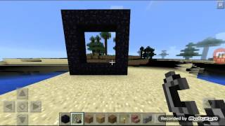 How To Build A Nether Portal In Minecraft Pe V0150