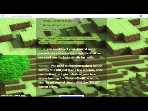 Free Server Hosting for Minecraft
