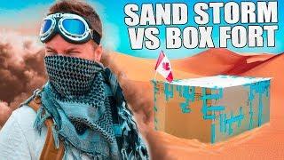 BOX FORT VS DESERT SANDSTORM!! 📦