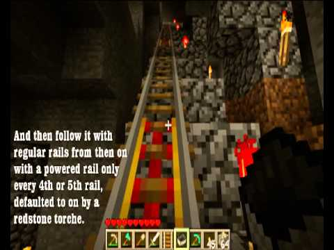 Minecraft Powered Rails Using Less