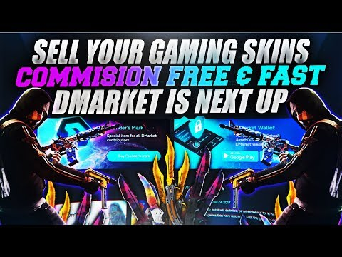 HOW TO GET MONEY FOR ANY GAME SKIN COMMISION FREE [DMARKET]