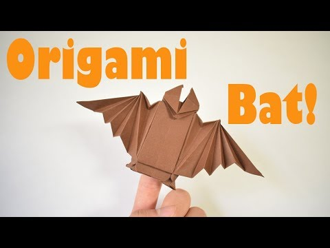How to Fold an Origami Bat Finger Puppet / Halloween Decoration
