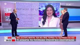 Σήμερα | Αυστηρό μήνυμα των ΗΠΑ προς Τουρκία για γεωτρήσεις και ΑΟΖ | 09/07/2020