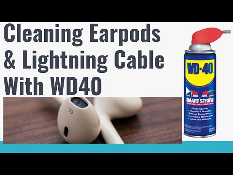 How to totally clean apple  lightning Cable and Earbuds
