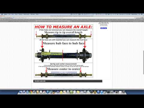 Utility Trailer Axles Fully Explained - How to Order the Correct Axle