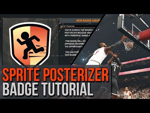 NBA 2K15 Sprite Posterizer Badge Tutorial! Dunk On People Like Crazy! | NBA 2K15 Tutorial