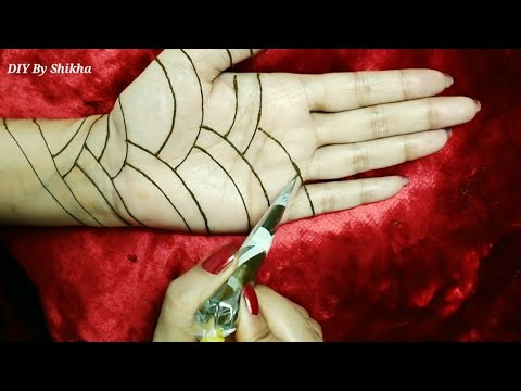 Full hand eid special mehendi design for palm / Latest and easy idea to make bharwa mehendi design