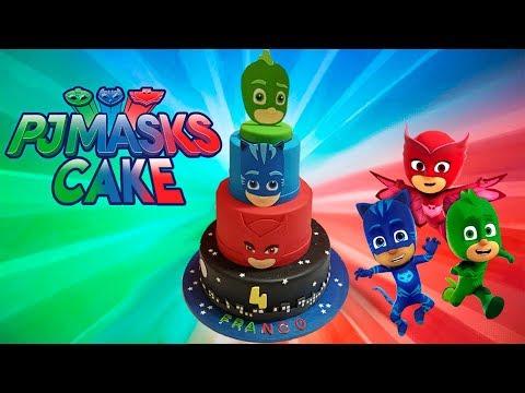 pastel héroes en pijama, pj masks cake