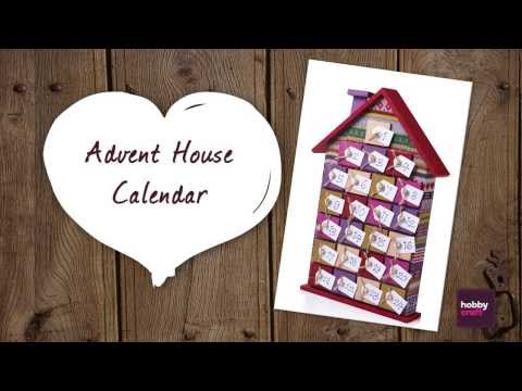 How to make an Advent House Calendar from Hobbycraft
