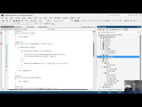 How to create a simple custom log in system - MVC 4 / Razor - Part 4 of 5