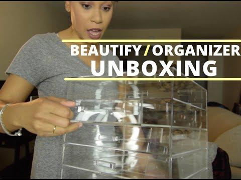 Beautify Makeup Organizer Unboxing