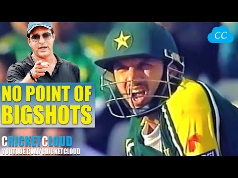 Wasim Akram to Afridi - Don't Go for Big Shots - But he Hit Back to Back SIXES & THEN...
