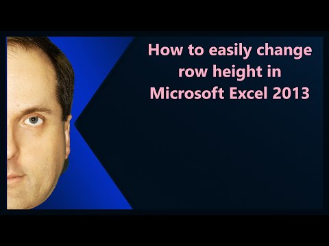 How to easily change row height in Microsoft Excel 2013