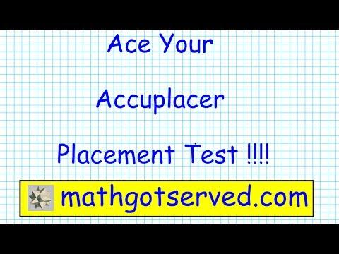 Accuplacer Arithmetic pt I Testprep Exam Practice Math Placement Community College Prep Tips
