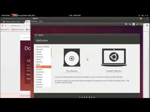 How to Create a Bootable USB Stick on Ubuntu 18.04 16.04 and test with qemu kvm