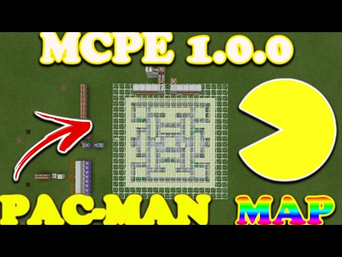 Mcpe Pacman Map//Command Block Creation//The Best!!!