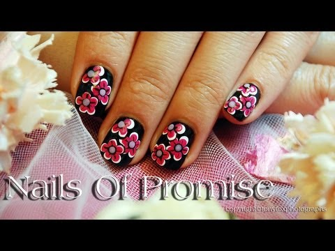 Layered Flowers Live Nail Art Tutorial. Nails Of Promise.
