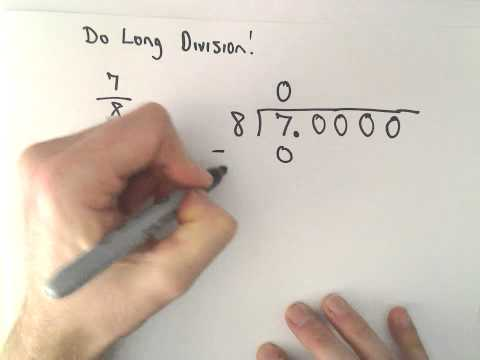 Writing a Fraction as a Decimal, Example 1