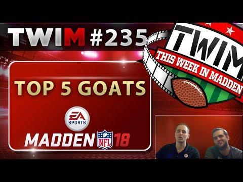 Madden 18 Gameplay | 5 Best GOAT Players | Madden 18 Tips