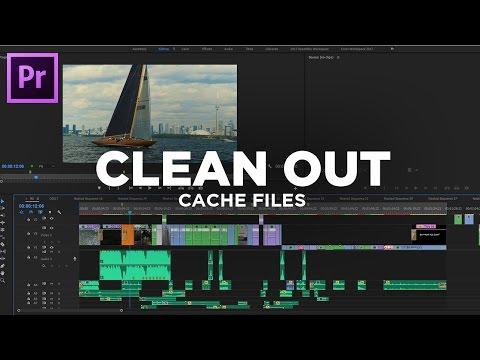 CLEAN OUT CACHE FILES - Adobe Premiere Pro CC