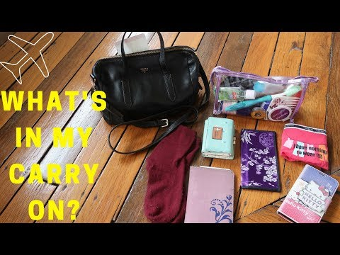 What to pack in your carry on | What's in my bag?