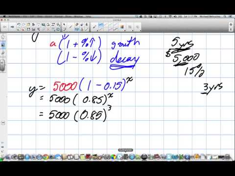 Percentage Increase, Decrease and Exponential Groth and Decay Grade 11 mixed Lesson 7 7 6 8 13)
