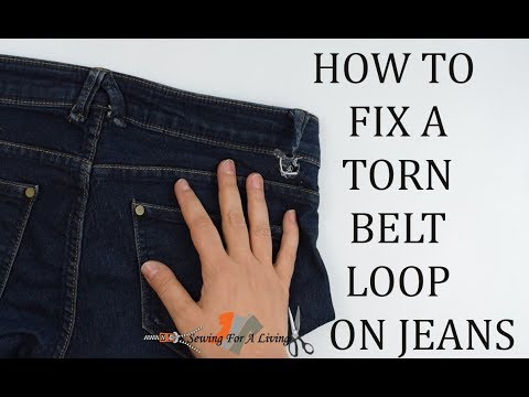 How to fix a torn belt loop on Jeans