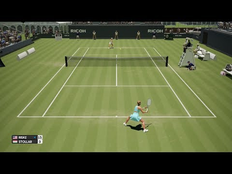 Alison Riske vs Fanny Stollár - AO International Tennis PS4 Gameplay