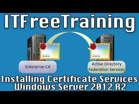 Installing Enterprise CA for AD FS