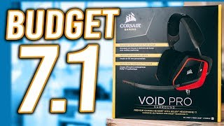 17172301c25 Corsair Void Pro Dolby Surround Unboxing - Best Budget Gaming Headset under  $100!