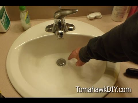 How to Fix a Leaky Sink Drain Stopper / Plug - Easy To Do