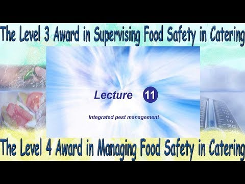 Lecture 11 Level 4 Award in Managing Food Safety in Catering
