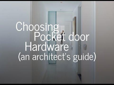 Choosing Pocket Door Hardware - Pro Tips from an Architect