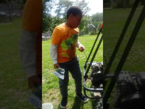 Me and Chuck working on his dune buggy...
