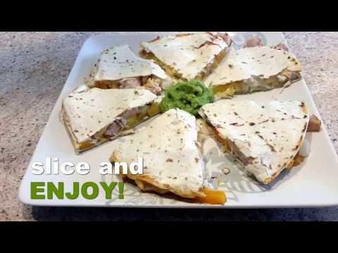 air fried cheese chicken quesadilla