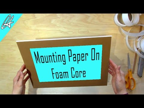 How to Mount Pastel Paper on Foam Core | Pastel Tips