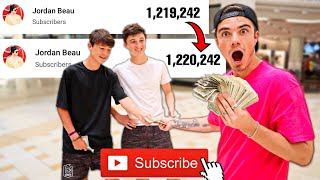 Paying 1,000 People To Subscribe To Me