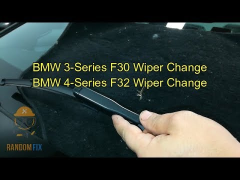▶️How To Change BMW 335i 328i F30 435i 428i F32 Wiper Blade ▶️2012 2013 2014 2015 2016+
