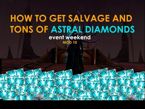 NEVERWINTER HOW TO GET SALVAGE AND TONS OF ASTRAL DIAMONDS (maximize event weekend)