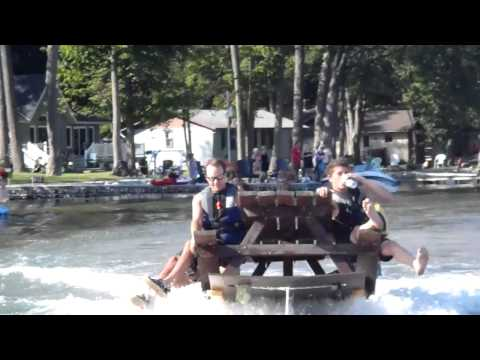 Picnic Table Skiing 1