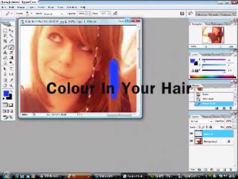How To Change The Colour of Your Hair on Photoshop CS2