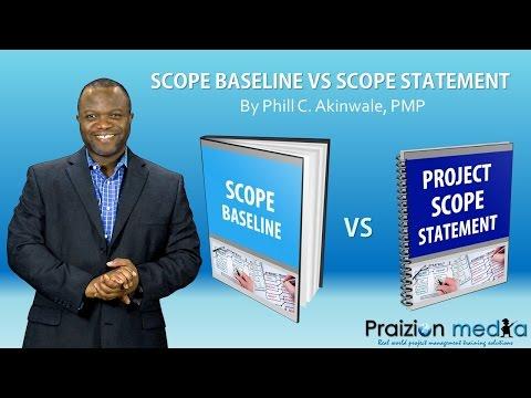 PMP Exam Study: Scope Baseline Vs. Scope Statement